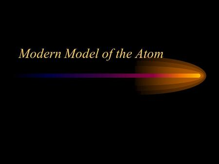 Modern Model of the Atom. Quantum Mechanical Model Does not describe the movement of the electrons, only where they are at any point in time. Orbital.