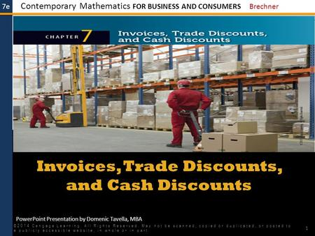 Invoices, Trade Discounts, and Cash Discounts