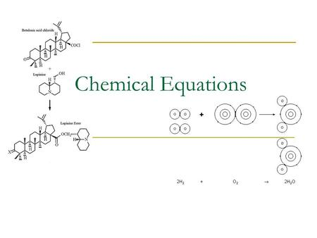 Chemical Equations. Review A + B  AB Reactant SideProduct side.