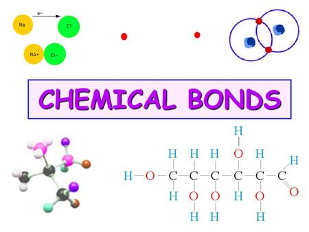 CHEMICAL <strong>BONDS</strong>. A.Compounds 1.Are made from more than one type of atom (element) 2.Are made during a chemical chg 3.Have properties different from the.