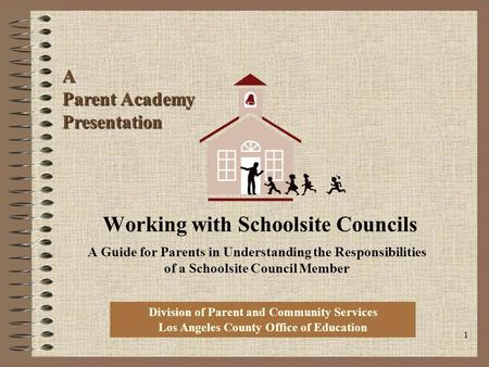 Working with Schoolsite Councils