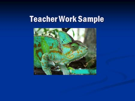 Teacher Work Sample. Learning Goals Subject Areas: Science and Language Arts Subject Areas: Science and Language Arts Topic and Standards: Homes for Living.