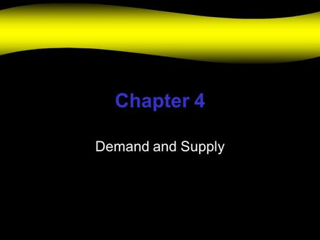 Chapter 4 Demand and Supply. The Market can be a location, network of buyers and sellers for a product, demand for a product or a price-determination.