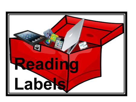 Reading Labels. Computer Inspiration Google Docs Keynote Camera iMovie Blogger ComicLife Pages.
