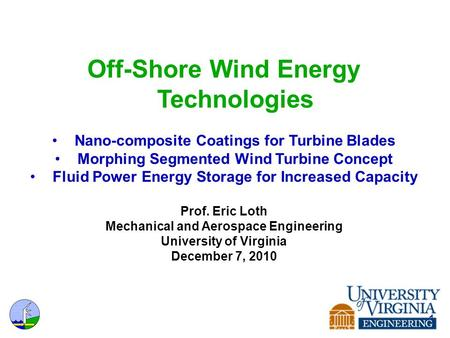 Off-Shore Wind Energy Technologies