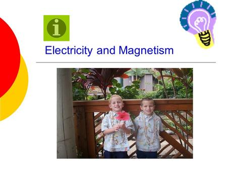 Electricity and Magnetism Atomic Review An atom consists of 3 particles:  Protons-positively charged  Neutrons-no charge  Electrons-negatively charged.