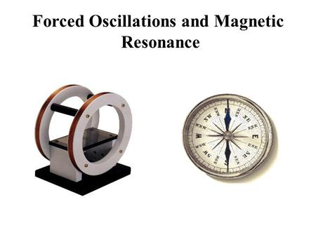 Forced Oscillations and Magnetic Resonance. A Quick Lesson in Rotational Physics: TORQUE is a measure of how much a force acting on an object causes that.