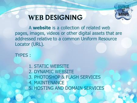 A website is a collection of related web pages, images, videos or other digital assets that are addressed relative to a common Uniform Resource Locator.