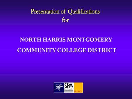 NORTH HARRIS MONTGOMERY COMMUNITY COLLEGE DISTRICT.
