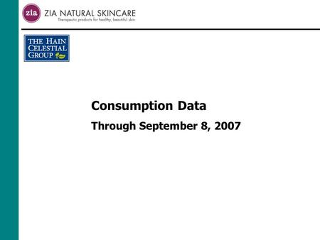 Consumption Data Through September 8, 2007. Category Review Total Direct ( Selected Brands ) SPINS Data X-WF Week Ending 09-08-07.