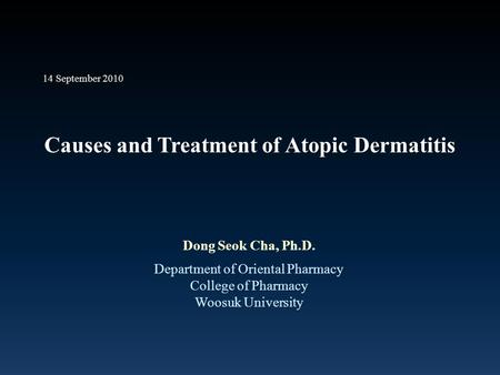Causes and Treatment of Atopic Dermatitis