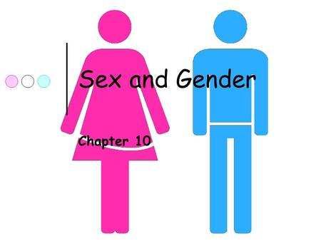 Sex and Gender Chapter 10. Sex and Gender Sex = biology Gender = cultural differences.