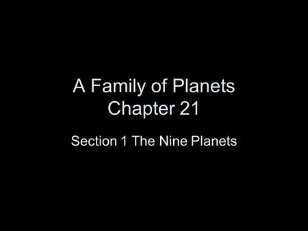 A Family of Planets Chapter 21