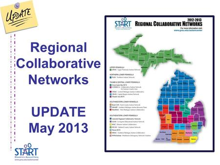 Regional Collaborative Networks UPDATE May 2013.