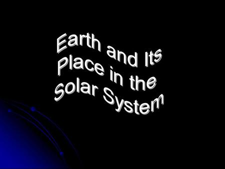 Structure of the Solar System Solar System: the sun and the objects that orbit around it Orbit: the path an object takes as it moves around another.