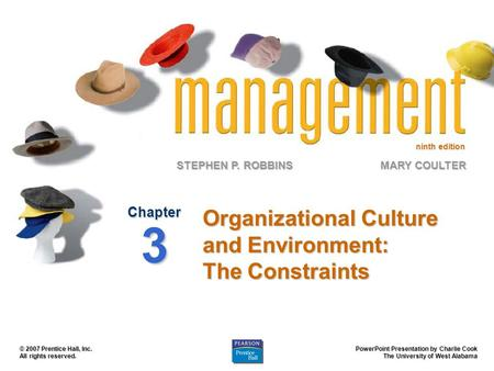 Organizational Culture and Environment: The Constraints