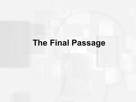 The Final Passage. Sociocultural Definitions of Death Different cultures view death in diverse ways Customs and expectations also differ in rituals of.