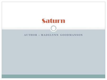 Saturn By M Kayla Saturn Is Named After Saturn The God Of