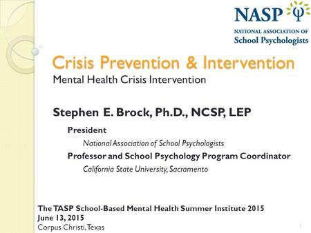 crisis intervention papers research
