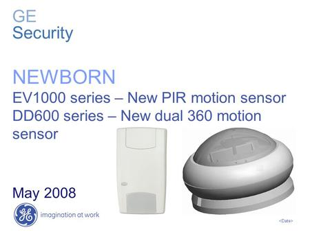 NEWBORN GE Security EV1000 series – New PIR motion sensor