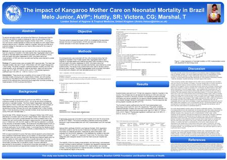 Discussion Results The impact of Kangaroo Mother Care on Neonatal Mortality in Brazil Melo Junior, AVP*; Huttly, SR; Victora, CG; Marshal, T London School.