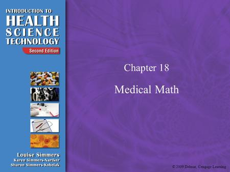 Chapter 18 Medical Math.