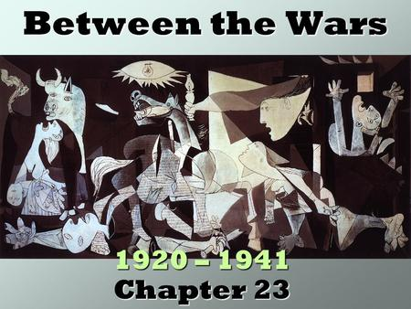 Between the Wars 1920 – 1941 Chapter 23. Politics of Isolation Washington Conference (1921): series of disarmament treaties involving all major industrialized.