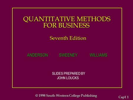 quantitative methods for business cha 2 introduction Summary business research chapter introduction to research what is  summary  - book research methods for business - chapter 1, 17 , 2 , 6, 9 , 11, 12 & 13.