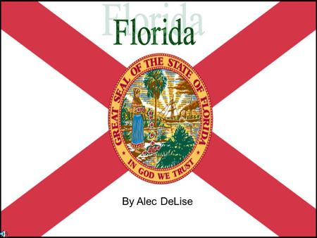 By Alec DeLise. MENU Landmarks Facts Flag Maps Famous people Sources Symbols State Symbols Why Would People Go To FLORIDA.