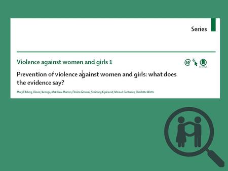 FGFDDFFG. Aim methods Aim and methods Aim: To present the most complete synthesis possible on what works to reduce and prevent violence against women.