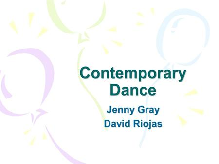 Contemporary Dance Jenny Gray David Riojas. Contemporary Dance Abroad  - London Contemporary Dance School  London Dance Website London Dance Website.