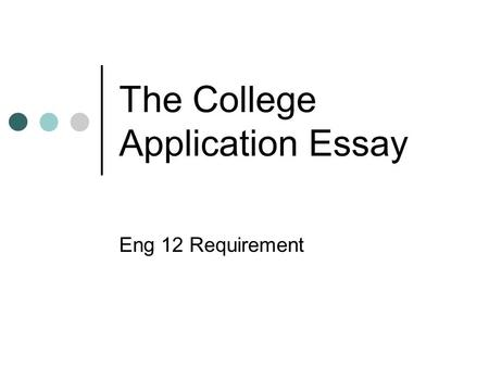 application college essay winning write