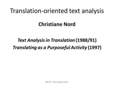 Translation-oriented text analysis