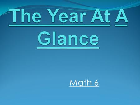 Math 6. 1 st Quarter Math 6 Properties of Real Numbers 6.19 Sequences 6.17 Number 6.5, 6.8 and 6.3 Equations and Inequalities 6.18 and 6.20.