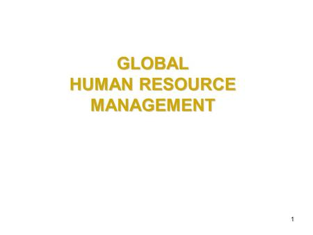 what is international human resource management Pdf | on jan 1, 2006, j hearn and others published gender and international  human resource management.