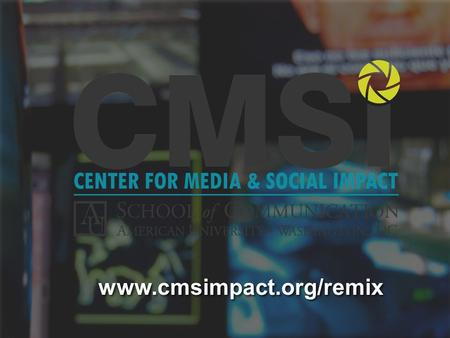 Www.cmsimpact.org/remix. FAIR USE IN ONLINE VIDEO FAIR USE IN ONLINE VIDEO An Introduction to the Code of Best Practices in Fair Use For Online Video.