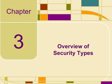 Chapter 3 Overview of Security Types. Learning Objectives Price quotes for all types of investments are easy to find, but what do they mean? Learn the.