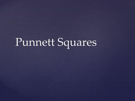 Punnett Squares. Be ready to answer!  Which is an example of heterozygous alleles?  Tt  MM  mm.