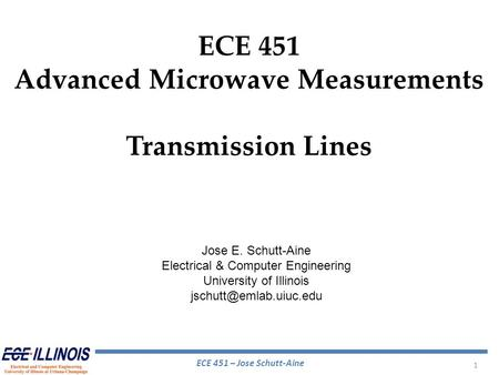 Advanced Microwave Measurements