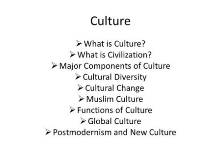 cultures of the new world essay