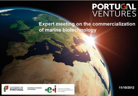 11/10/2012 Expert meeting on the commercialization of marine biotechnology.
