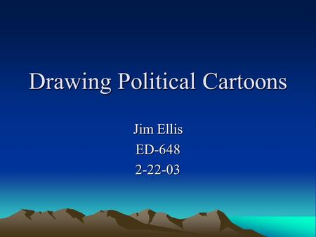 Drawing Political Cartoons Jim Ellis ED-6482-22-03.