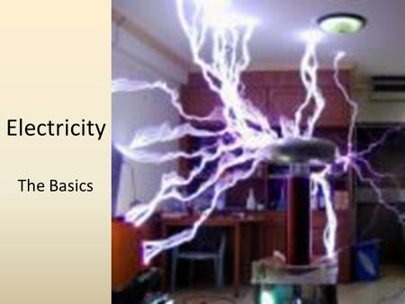 Electricity The Basics. The flow of electricity is actually the flow of _______________. A.Electrons B.Protons C.Electric charge D.Energy.