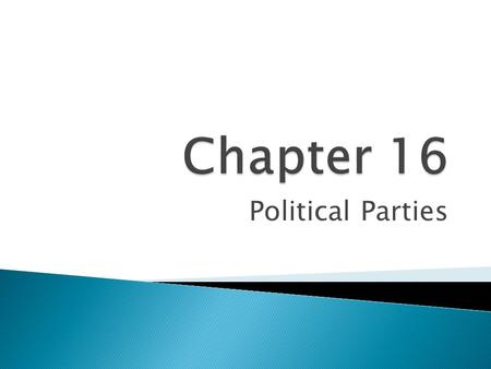 Chapter 16 Political Parties.