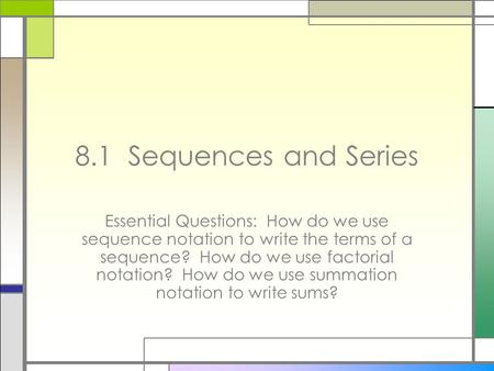 How to write a sequence in math
