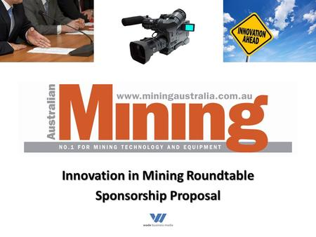 Innovation in Mining Roundtable Sponsorship Proposal.