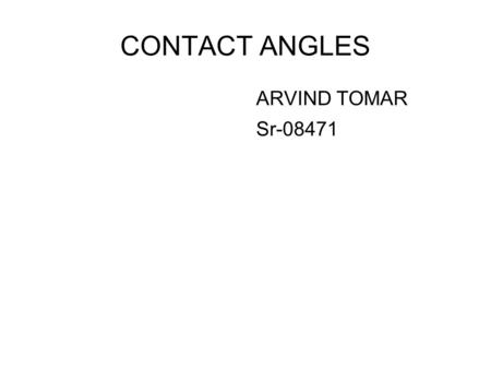 CONTACT ANGLES ARVIND TOMAR Sr-08471.