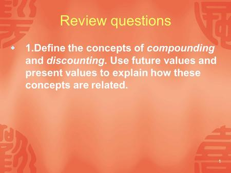 explain the concept of discounting and The concept of present value helps explain why investmentand thus the quantity from econ 2 at university of california, santa barbara  ^n discounting:.