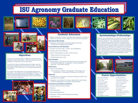 Objectives We promote interdisciplinary collegiality among Agronomy graduate students and faculty. The club sponsors monthly meetings, club projects, and.
