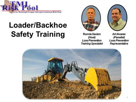 Loader/Backhoe Safety Training